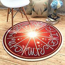 Creative Light- Opean Stil Kinder runden Teppich Polyester Computer Stuhl Matten Wohnzimmer Schlafzimmer Schlafsofa Edge Anti - Skid Pad Baby Crawling Teppich ( größe : Diameter 80cm )