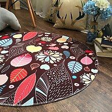 Creative Light- Pastorale Runde Teppiche Computer Stuhl Drehstuhl Stuhl Pad Wohnzimmer Schlafzimmer Couchtisch Study Matten ( Farbe : #5 , größe : 180cm )