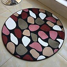 Creative Light- Runde kurze Haare Teppiche Computer Stuhl Decke Schlafzimmer Studie Teppich Yoga Tanz rutschfeste Matte ( Farbe : #2 , größe : Diameter 120cm )