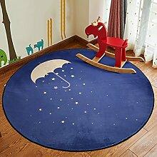 Creative Light- Runde Teppiche Kinder Decke Wohnzimmer Schlafzimmer Nachttisch Couchtisch Computer Stuhl Matten ( Farbe : #2 , größe : 60 )