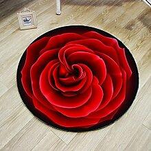 Creative Light- Runde Teppiche Wohnzimmer Couchtisch Computer Stuhl Matten Schlafzimmer Nachttischdecke Teppiche ( größe : 100cm )