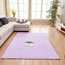 Creative Light-Teppich Wohnzimmer Großer Teppich Rechteck Solid Color Soft Bedside Bay Fenster Durable Teppich Runner Kind Spielteppich Matten Anti-Rutsch Home Teppiche (1.01m * 1.01m) ( Farbe : Lila )