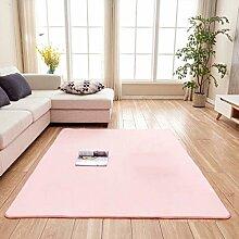 Creative Light-Teppich Wohnzimmer Großer Teppich Rechteck Solid Color Soft Bedside Bay Fenster Durable Teppich Runner Kind Spielteppich Matten Anti-Rutsch Home Teppiche (1.01m * 1.01m) ( Farbe : Pink )