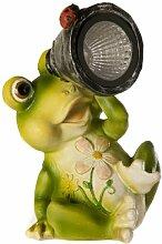 Creative Living Gartenfigur, Frosch mit Teleskop,