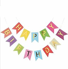 Creative Multi Themes Happy Birthday Banner Gold
