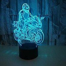 Creative Ride Motorrad Modell Illusion 3D Lampe