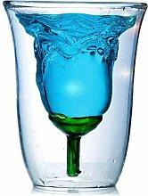 Creative Rose Form Tasse Doppelter Design Cocktail