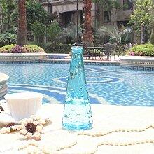 Creative single glass vase/dekor flasche