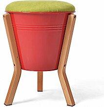 Creative-Stuhl kann auf dem Sofa sitzen Für den Hocker Niedriger Hocker Mode Hocker Hocker Lagerung Hocker Runde Hocker Massivholzbank Sofa Hocker (einer Vielzahl von Stilen optional) ( farbe : E )