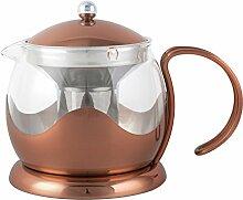 CREATIVE TOPS 1200ml Kupfer-und-Glas-Teekanne La