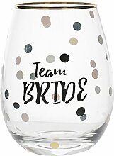 Creative Tops 5233320 Team Bride Weinglas