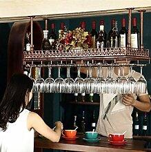 Creative Weinregal Dekoration Weinregal Weinregal, Weinglasregal hängende hängende Becherhalter KTV Becherhalter kreative Weinregal hängende Becherhalter Wein Flaschenregal Weinregal Stemware Racks ( Farbe : A , größe : L60*W35CM )
