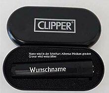 creativgravur® Clipper Jet-Feuerzeug Metall