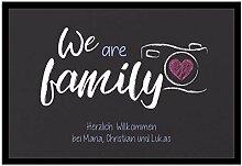 Creativgravur Fußmatte We are Family Inkl. Ihrem