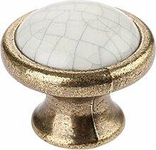 Creatwls 10pcs Keramik Porzellan Küchenschrank Türgriffe Möbelgriff Antike Bronze Türknauf Möbelknopf Schrankgriff Schubladengriff Möbelknauf