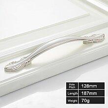 Creatwls 10pcs Modern Einfache Schrank Tür Griff Schubladegriff Türgriff Möbelgriff Zink-Legierung Schminktisch Küchengriff Lochabstand 64mm, 96 mm, 128 mm
