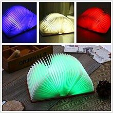 creatwls LED faltbar Book Light Nachtlicht Vier