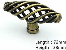Creatwls Modern Minimalist Creative Einloch Vogelkäfig Spirale Form Knopf Griff Knopf Küche Schrank Kleiderschrank Dresser Türknöpfe Moebelgriffe Möbelknauf - 10pcs
