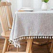 Creek Ywh Simple Plaid Cotton Tablecloth Kleine