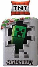 Creeper Minecraft Bettbezug-Set Bettwäsche 100%