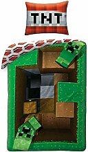 Creeper Minecraft Bettbezug-Set Wende Bettwäsche