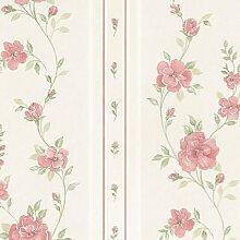 Creme floral Impressions Seide, grün, rosa