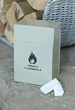 Creme Ton gefärbt Feueranzünder Vorratsdose mit Klappdeckel