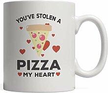 Cremetasse Sie haben eine Pizza gestohlen Mein