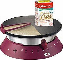 crêpes-Pfanne elektrisch cebpf2ao mit 1Kilo von