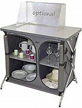 Crespo Faltbarer Küchenschrank mit Ablageplatte -