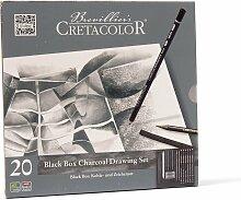 Cretacolor Kohle- und Zeichenset Black Box