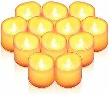Criacr LED Kerzen, 12 LED Teelichter Flackernd,