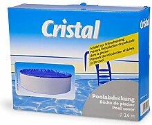 Cristal Poolabdeckung 3,6 m mit Kindersicherung