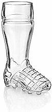 CRISTALICA Bierglas Stiefel Fußballschuh 500ml