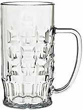 CRISTALICA Bierkrug Bierglas Kunststoffbecher mit