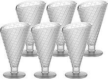 CRISTALICA Eiscremeglas 6er-Set Eisbecher Blüte