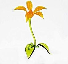 CRISTALICA Glas Figur Glasblume für Blumentopf