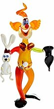 CRISTALICA Glas Figur Glastier für Vitrine Clown