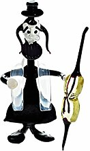 CRISTALICA Glas Figur Glastier für Vitrine Rabbi