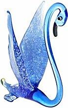 CRISTALICA Glas Figur Glastier für Vitrine Schwan