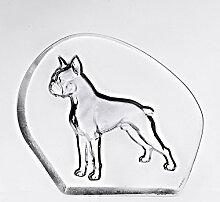 CRISTALICA Glas Figur Tier Statue für Vitrine