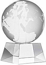 CRISTALICA Glasblock Globus Weltkugel Tarra