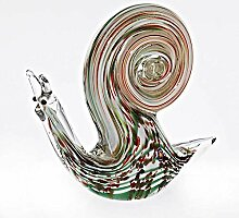 CRISTALICA Glasfigur Schnecke Gery bunt