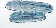 CRISTALICA Glasschale Tablette Blatt Teller Glas