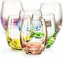 CRISTALICA Likörglas 6er-Set Rainbow 60 ml