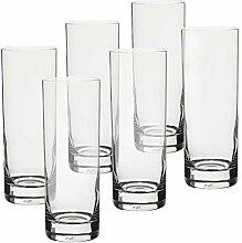6 X Longdrinkglas Wasserglas Trinkglas Charisma 350 ml Transparent Glas