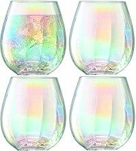 CRISTALICA Trinkbecher Glas Saft Wasser Longdrink