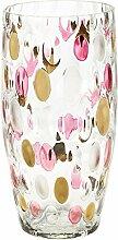 CRISTALICA Vase Blumenvase Bouquet Vase Punkte H