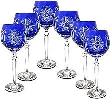 CRISTALICA Weinglas Weinkelch Römer Glas blau
