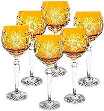 CRISTALICA Weinglas Weinkelch Römer Glas gelb